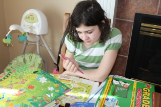 Jenny working on Times Tables puzzles